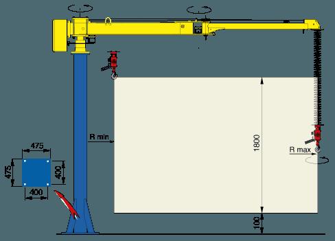 Manipulator linkowy - Manipulator do przenoszenia cegieł - Manipulatory DALMEC (6)